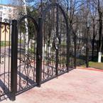 Металлический ворота