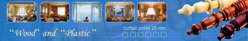 Curtain poles 28mm