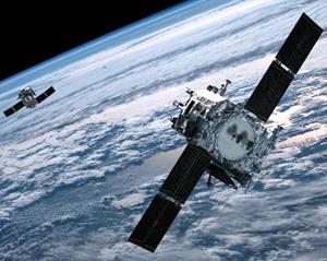 Спутник на солнечных батареях