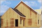 Строительство деревянного коттеджа.